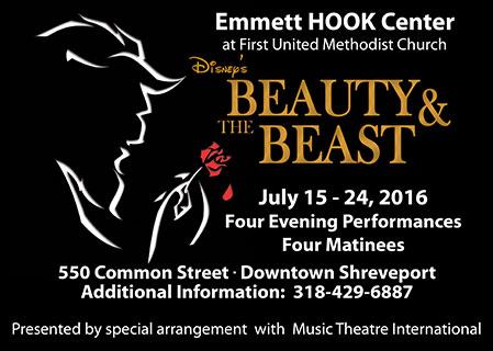 Beauty and the Beast, Emmett Hook Center, Shreveport LA, July 15, 2016