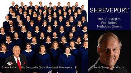 The Concordia Choir, March 1, 2018, First United Methodist Church Shreveport