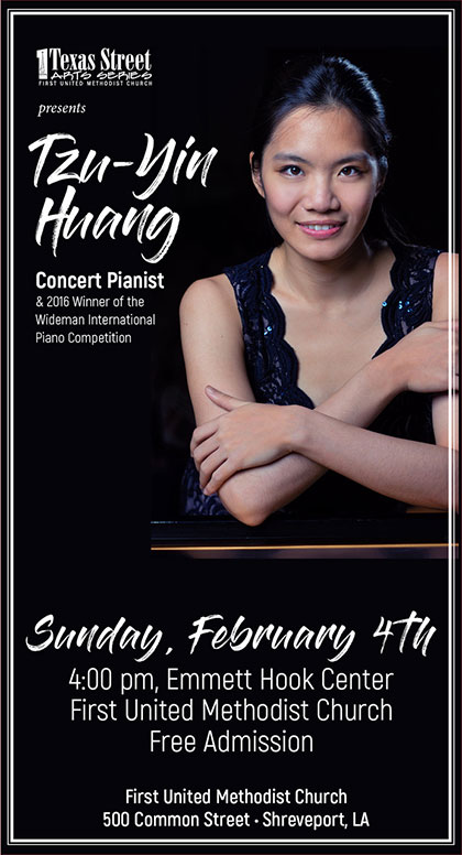 Tzu-Yin Huang, February 4, 2018, Emmett Hook Center, Shreveport, LA
