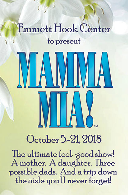 Mamma Mia! - Emmett Hook Center, October 5-21, 2018, Shreveport, LA