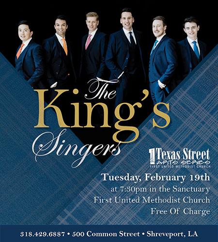 The King's Singers - FUMC Shreveport, Feb. 19, 2019