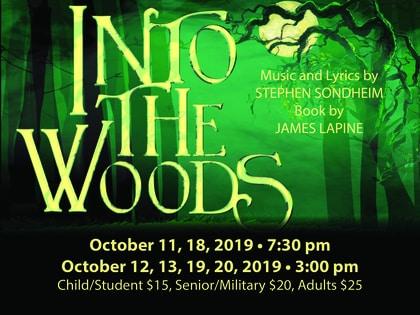 Into the Woods, starts October 11, 2019, Emmett Hook Center, Shreveport, LA